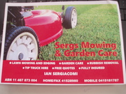 SERGYS MOWING AND GARDEN CARE