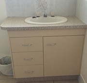 Vanity basin ivory/cream